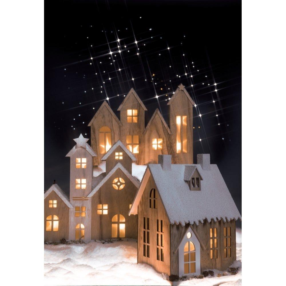 Casas y paisajes de Navidad