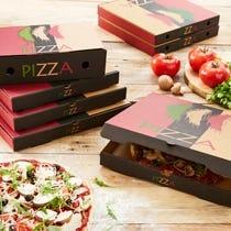 Platos y Cajas de pizza