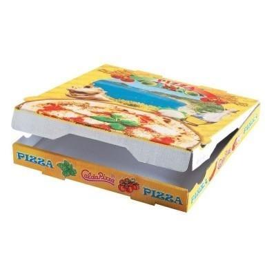 Cajas de pizzas y hamburguesas