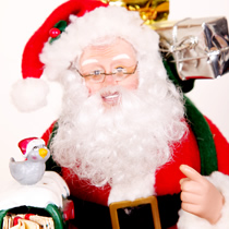 Adornos de Papá Noel y personajes de navidad