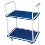 Carro doble estante 74,5x46,5x94,5 cm azul/blanco