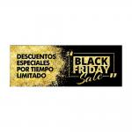 Cartel Black Friday horizontal 100x35 cm negro/oro