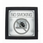 Cartel No smoking luminoso 30x30 cm natural