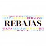 Cartel Rebajas Colors 100x35 cm multicolor