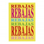 Cartel Rebajas horizontal 78x58 cm multicolor
