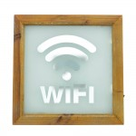 Cartel Wifi luminoso 30x30 cm natural-Decoración todo año