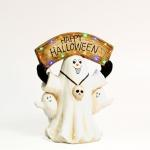 Fantasma Happy Halloween 47 cm blanco