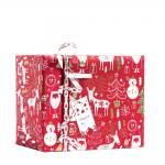 Papel de regalo Happy Santa 70 cm rojo/blanco - 50 metros
