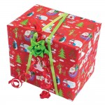 Papel de regalo Let it snow 70 cm rojo - 50 metros
