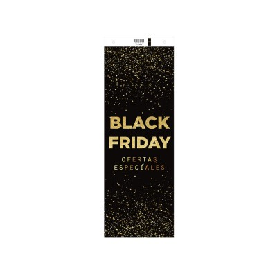 Cartel  Black Friday ' vertical 30x82 cm negro/oro '-Decoración Black Friday