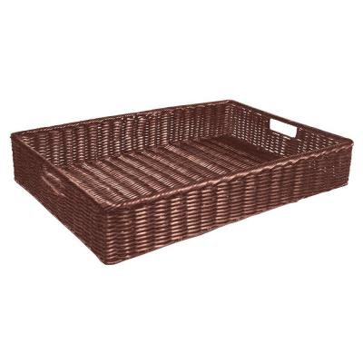Cesta rectangular 40x30x10 cm chocolate-Cestas