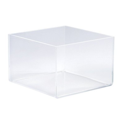 Expositor rectangular 15x15x10 cm transparente-