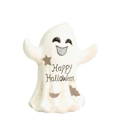 "Fantasma ""Happy Halloween"" 23,5x20x30,5 cm blanco-Decoración estacional"