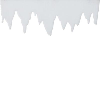 Friso nevado 99x2x30 cm blanco-Nieve, spray y purpurina