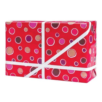 Papel de regalo Petillant 70 cm rojo - 50 metros-Papel de regalo decorado