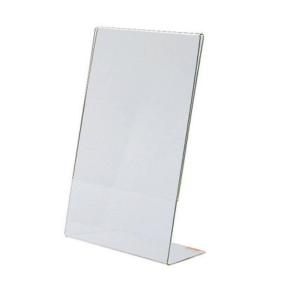 Porta cartel inclinado A6 10,5x15 cm transparente-