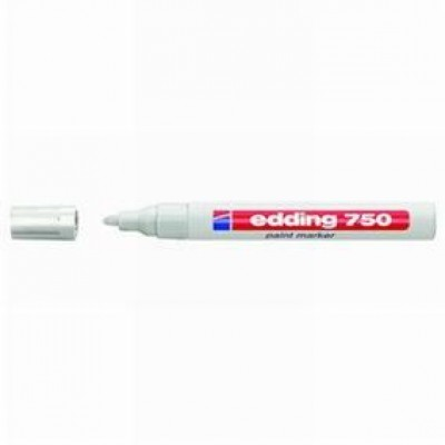 Rotulador permanente 2-4 mm blanco-